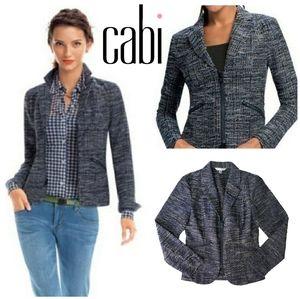 CAbi Blue Mingle Textured Jacket Style # 723